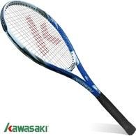 ║KAWASAKI║鋁合金網球拍-藍(含線/送單支裝球拍袋)